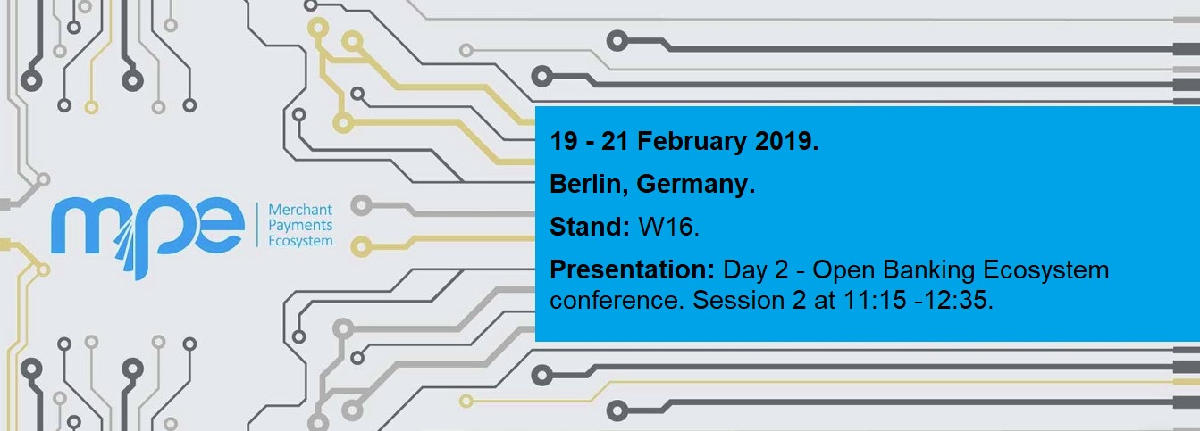 Sentenial to exhibit and discuss Open Banking at Merchant Payments Ecosystem (MPE) 2019
